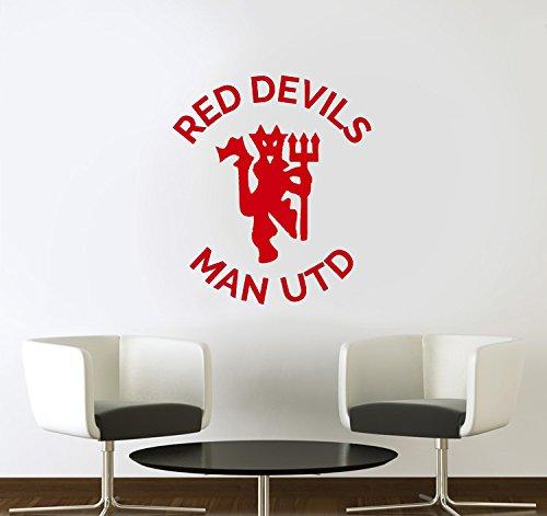 Red Devils Man Utd Football Vinyl Wall Art Sticker Decal
